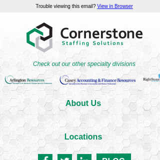 Cornerstone Staffing Solutions: the best of the best